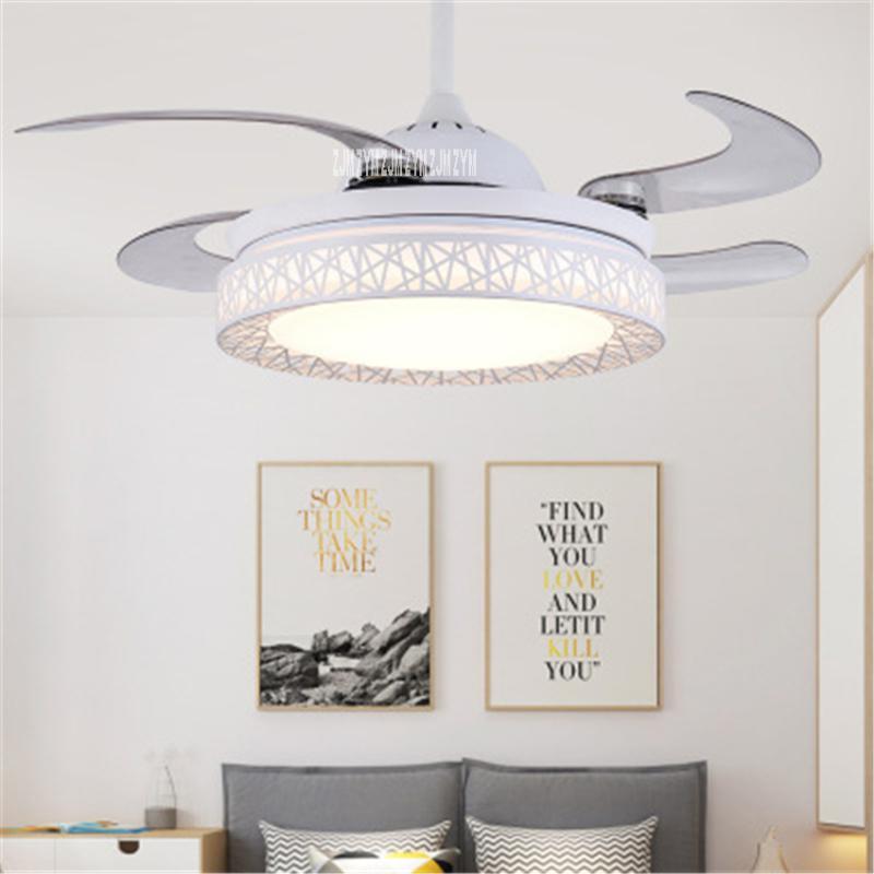 Ventilateurs électriques 9024 42Inch Moderne Simple Bird's Nest de oiseau LED ventilateur de plafond invisible Pendentif rétro chinois avec 110 / 220V