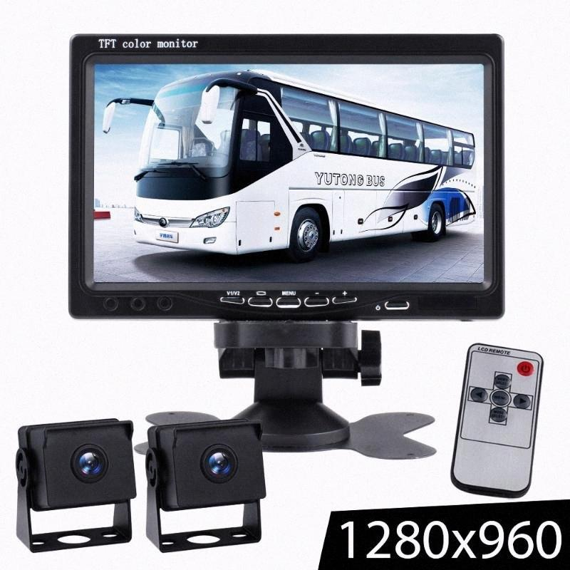 7inch TFT LCD Wired Car Monitor HD Definition Wired Reverse Camera Parking System Truck Starlight Night Vision Rearview Monitors Jrbi#