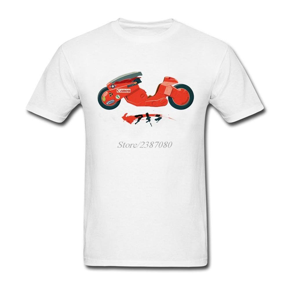 Boys İçin Yeni Stil Tişört Akira Tişörtlü Çiftler O-boyun Pamuk Büyük Beden Kısa Kollu T Shirt