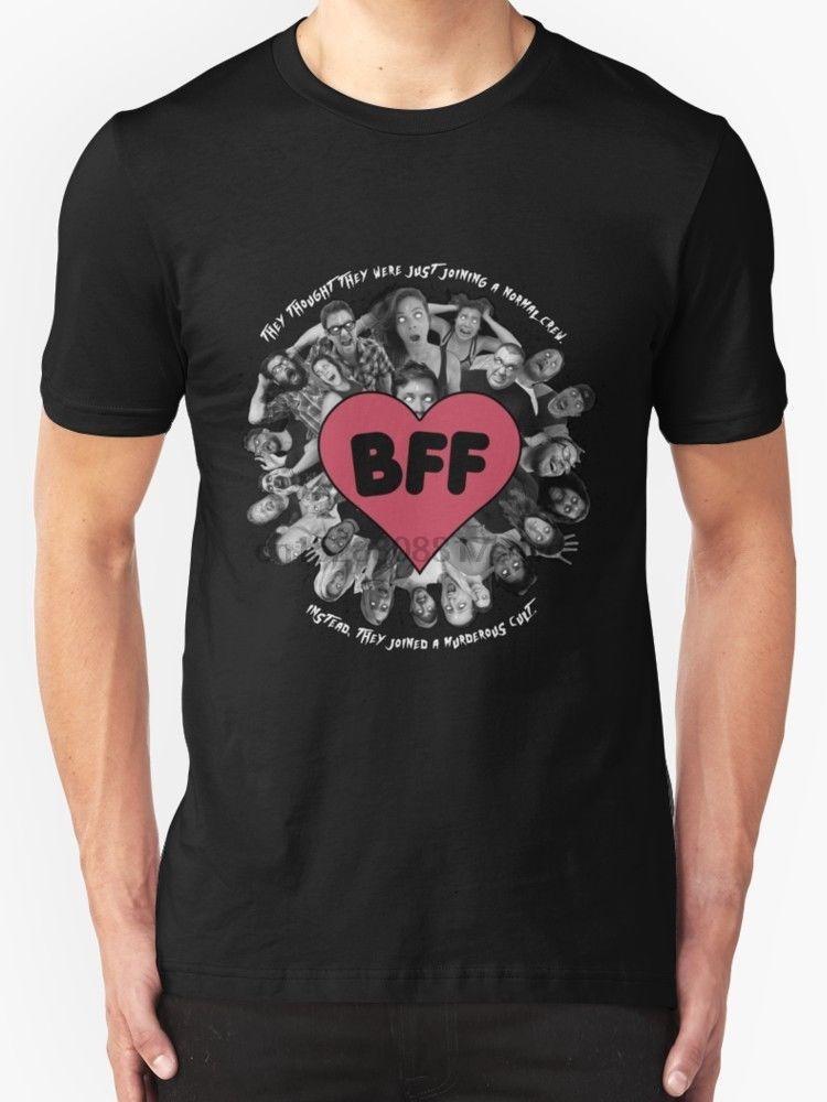Nouveau Crew Shirt - Fond blanc BFF Vêtements pour hommes taille T-shirt S-2XL