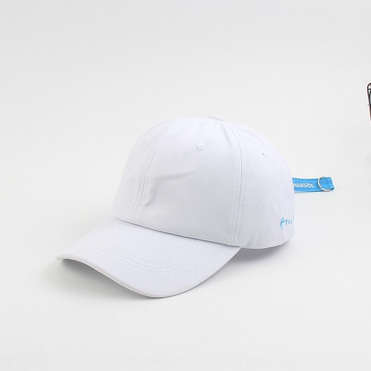 oYOgC été style coréen tout match a atteint un sommet doux chapeau de soleil en coton noir avant-toits incurvés femmes haut dessus de casquette de baseball casquette de base-ball a la fa hommes