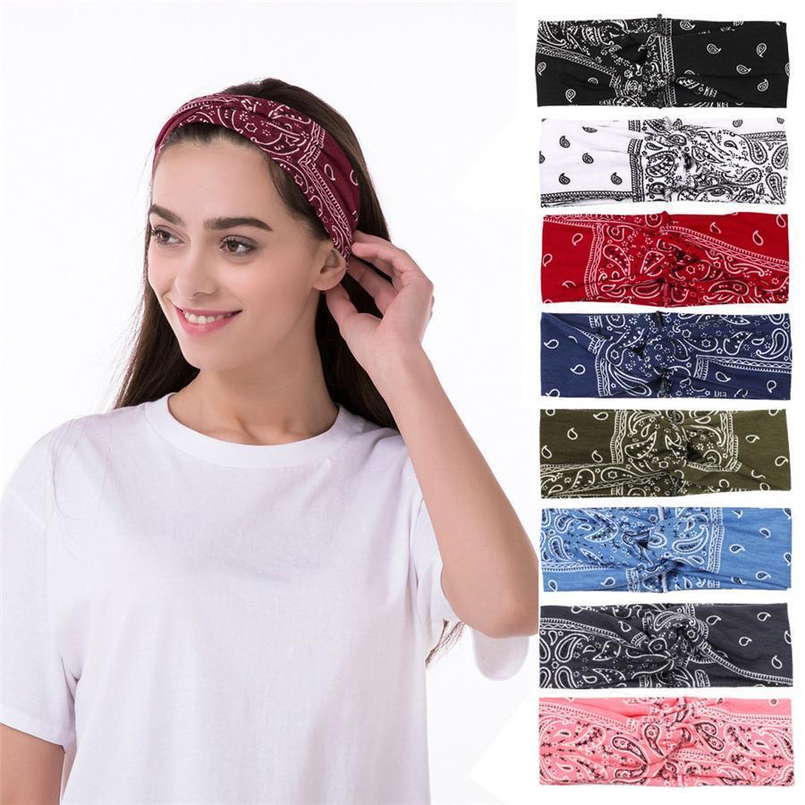 Ободки для женщин, Йога Бег Спорт Хлопок ободки Elastic Пот ободки тренировки Bands моды волос для девочек