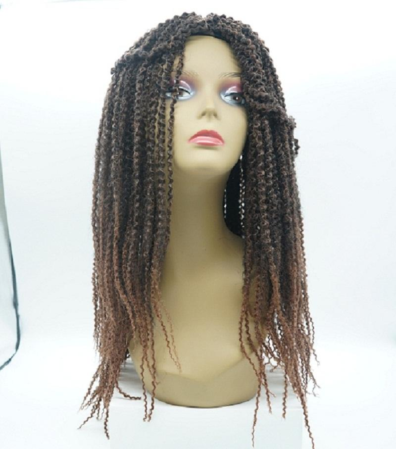 Aohai اثنين من لهجة مارلي مزين شريط جبهة لمة 24 بوصة رخيصة طويلة الشعر الاصطناعية استبدال الألياف الياباني
