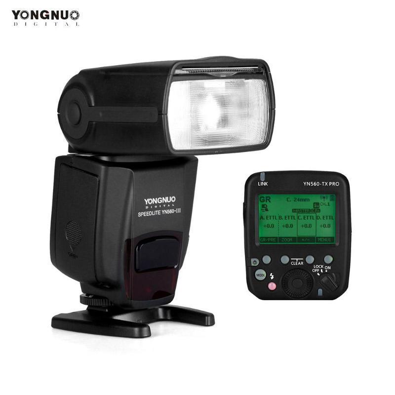 YONGNUO YN560-III Flash Speedlite YN560-TX PRO 2.4G sulla fotocamera Trasmettitore Wireless Flash Trigger a cristalli liquidi per la macchina fotografica