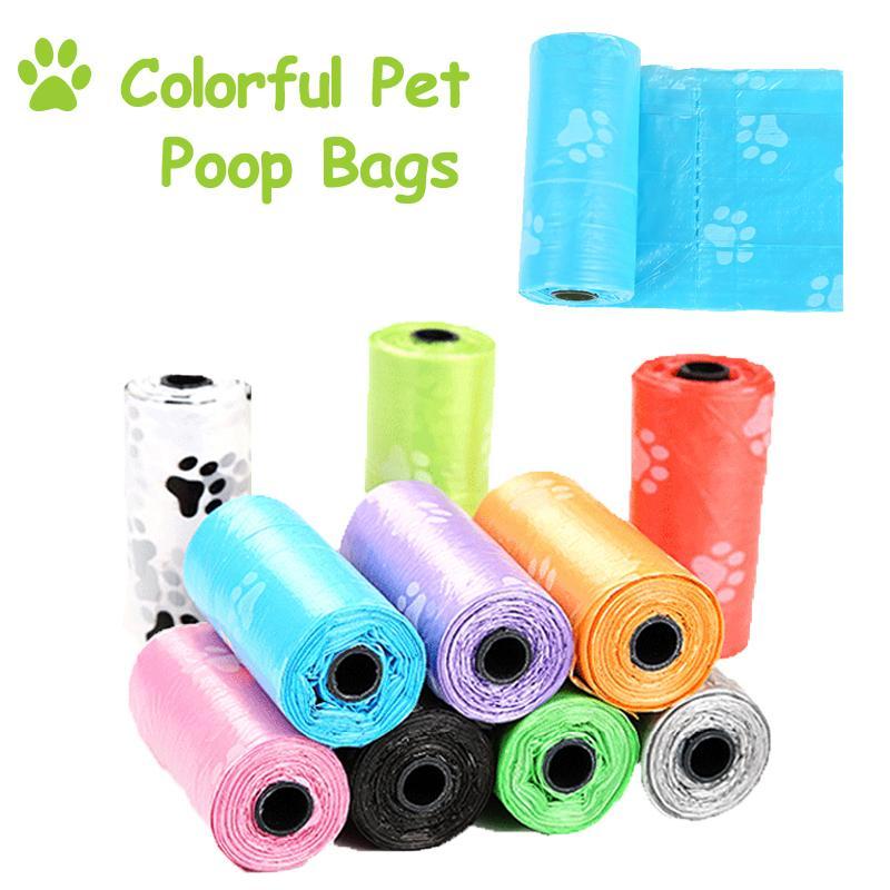 Pet Dog Poop Borse Dispenser Collector Scoop Holder gatto del cucciolo Pooper Scooper Bag piccoli rotoli all'aperto Clean animali accessori per la casa