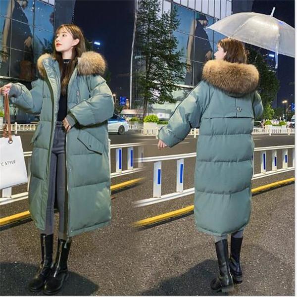 spessore di modo del cappotto imbottito 2020 delle donne di inverno nuove incappucciato lungo cappotti pane giacca di cotone Parkas