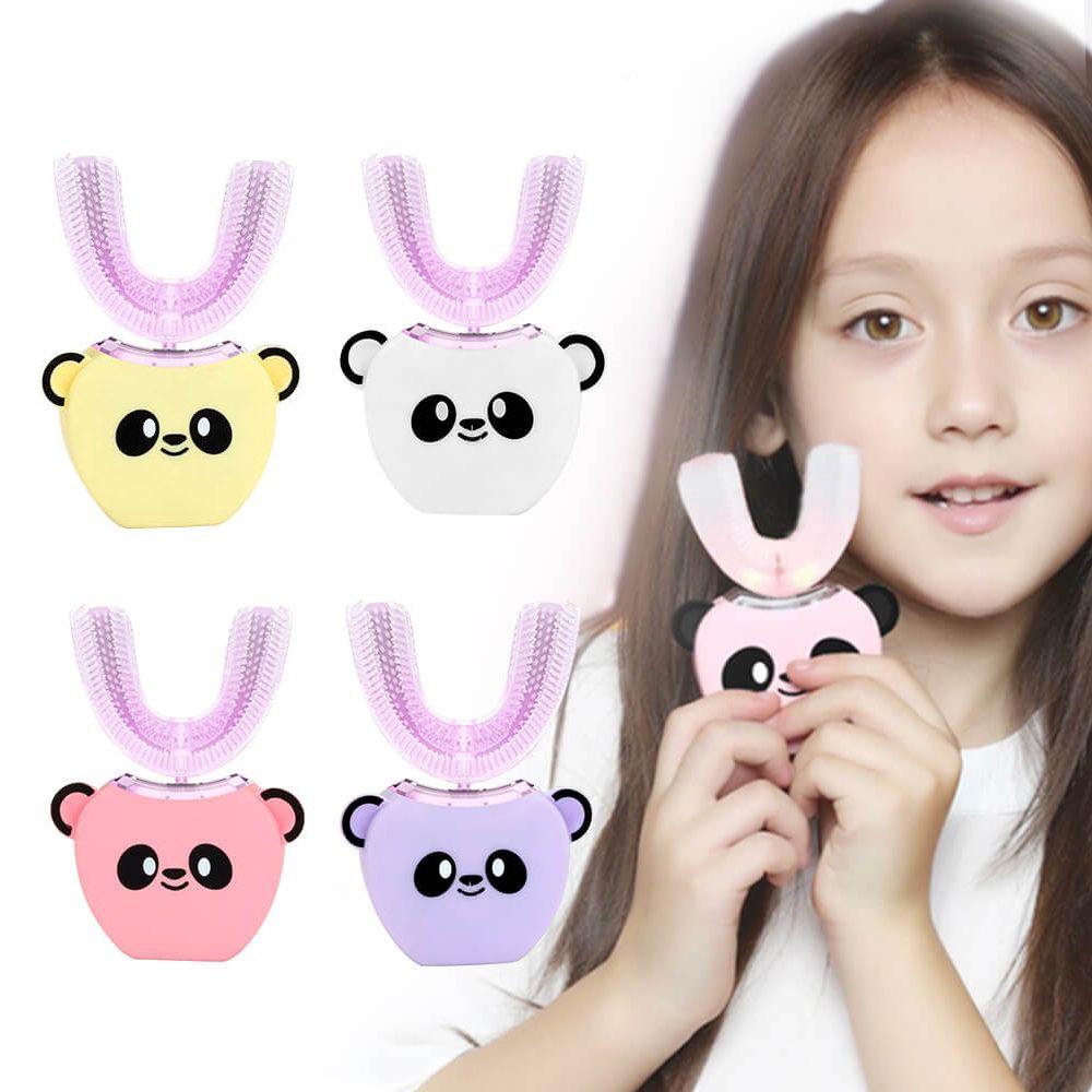 360 degrés Enfants automatique Sonic Brosse à dents électrique USB Charging U Care Lèvres Bouche Brosse à dents préformées pour enfants dents Whiten