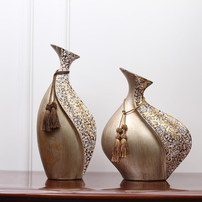 Criativa estilo europeu vaso de cerâmica Decoração Home Decoração Retro boca pequena Artesanato Flor de casamento arranjo