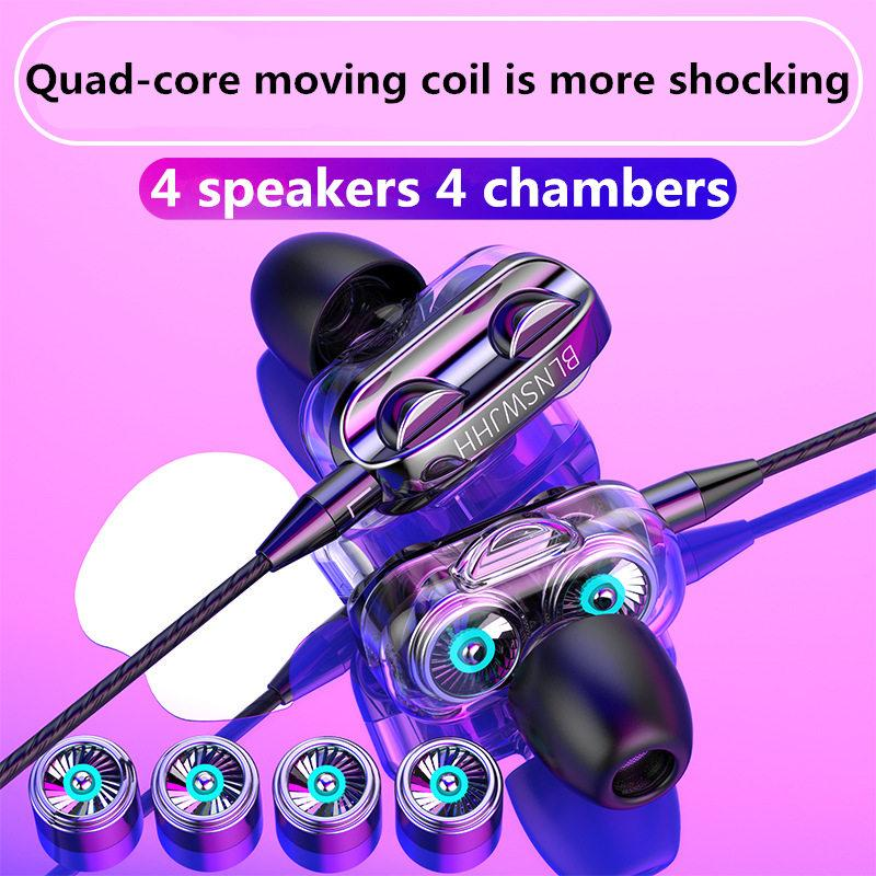 3,5 milímetros Noodles Headsets Desporto com microfone Auscultadores para Galaxy S20 S10 for mi 10 9 Honor 20