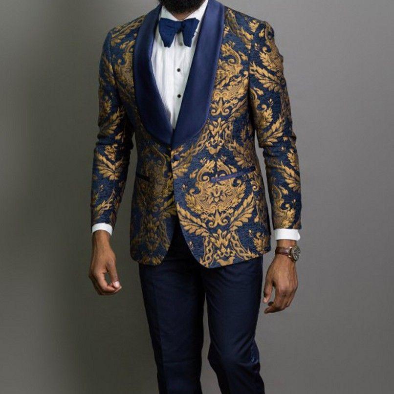 New Style Men Suits Navy Blue/Black Groom Tuxedos Shawl Lapel Groomsmen Wedding/Prom Best Man 2 Pieces ( Jacket+Pants+Tie ) L603