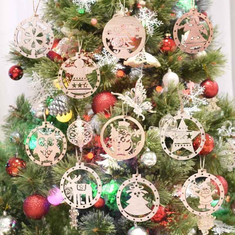 Ángel Árbol retro 3pcs nórdica estilo de Navidad Elk Santa Claus Ornamentos colgantes Visualizar la decoración del partido niños de juguete