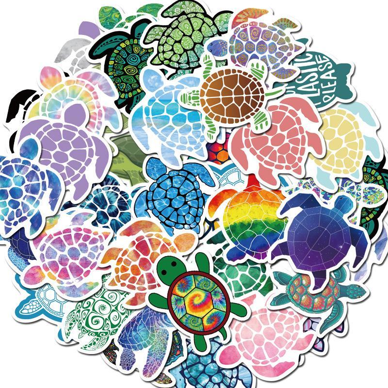 41 bunte Schildkröte Aufkleber Schildkröte Animation Notebook Koffer Gepäck Aufkleber Artikel Dekoration beliebt Jungen und Mädchen