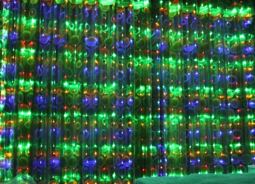 水滝カーテンライトデジタルストリングライト3 * 3M 512LEDモデルデジタル16メイテナシスLEDS結婚式の背景クリスマスライト