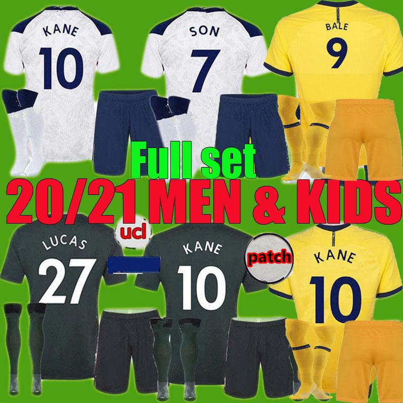 MEW 2020 21 DELE 아들 NDOMBELE 축구 셔츠 남자 아이가 균일 장비 세트를 키트 (20) 2021 토트넘 BALE KANE BERGWIJN REGUILÓN 축구 저지