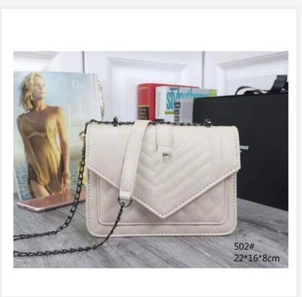 Mode femme de haute qualité Sac à bandoulière or argent en cuir Pu et sac chaîne de ruban sac à bandoulière Messenger Femme handbagwallet 6colorsS1