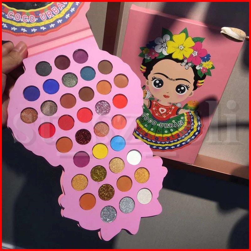 Coco Urban 37 Colors Eyeshadow Palette Matte and Shimmer Eye Shadow Glitter Eyeshadows Makeup Eyeshadow Eye Shadow palette