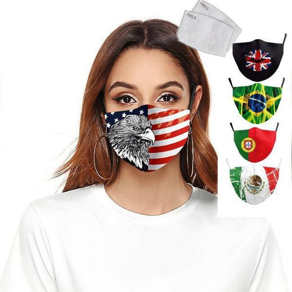 Combattere la Spagna Bandiera Stampa Mantieni Forza Italia viso maschere in tessuto protettivo per adulti PM25 riutilizzabili Maschera prova lavabile bambini Lystore2010 Og