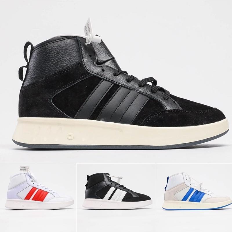 Ship Fast High Quality Court80S Soft Cierre de cuero Casual Todo Match Top High Para Mujeres Neo Shoes Hoops Mens Designers Sneakers