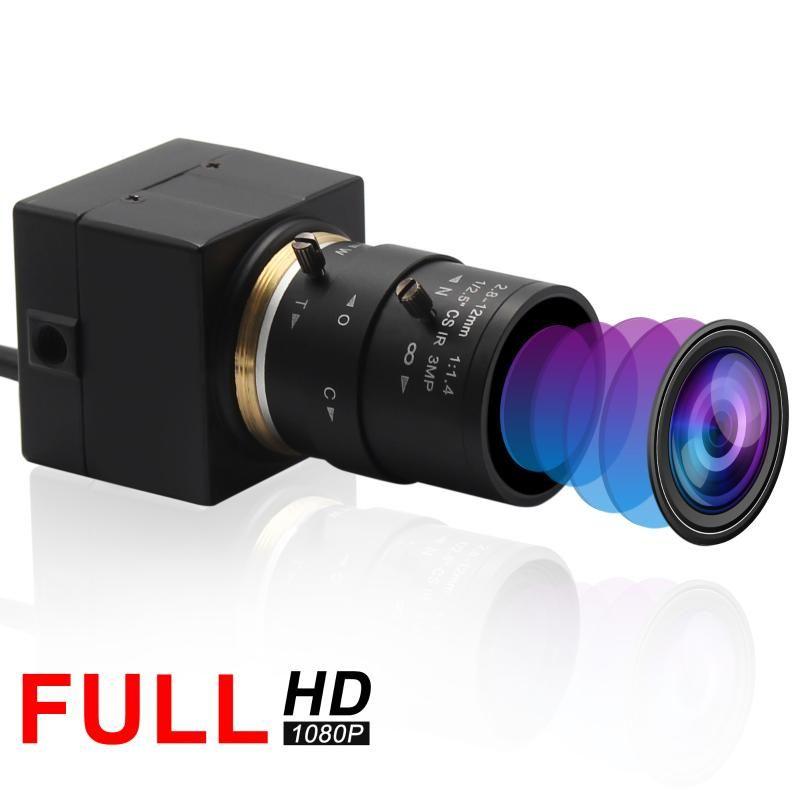 ELP 1080P Sony IMX322 H.264 Low Light USB Camera Industrial Varifocal Mini USB Webcam Camera Android,Linux, Windows for Robotic