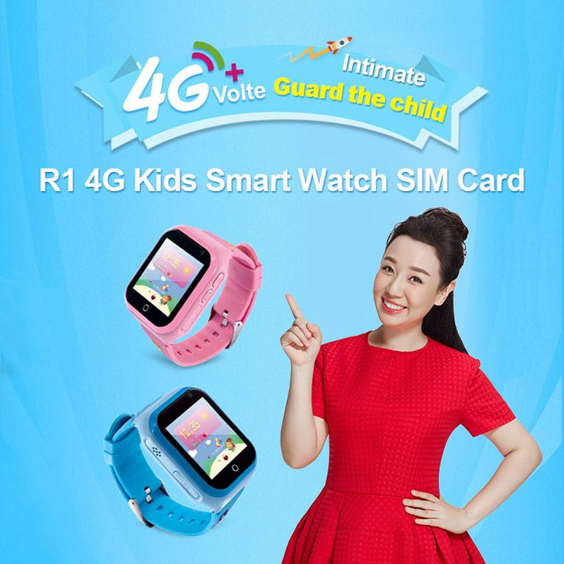 R1 Smart Watch SIM Card 4G Wifi Network GPS Position Phone Call ROM 4GB+RAM 512MB Clock Music Photo Video Camera Smartwatch For Child