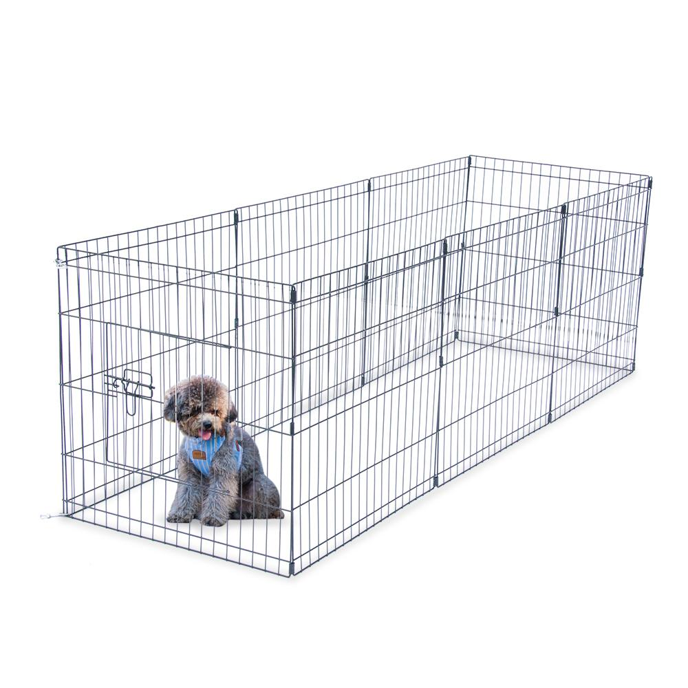 """WACO Dog Exercise Pen and Pet Playpen,Outdoor 8 Panel Foldable 24"""" Tall Wire, Different Shape Dog Cat Pet Exercise Fence Black"""