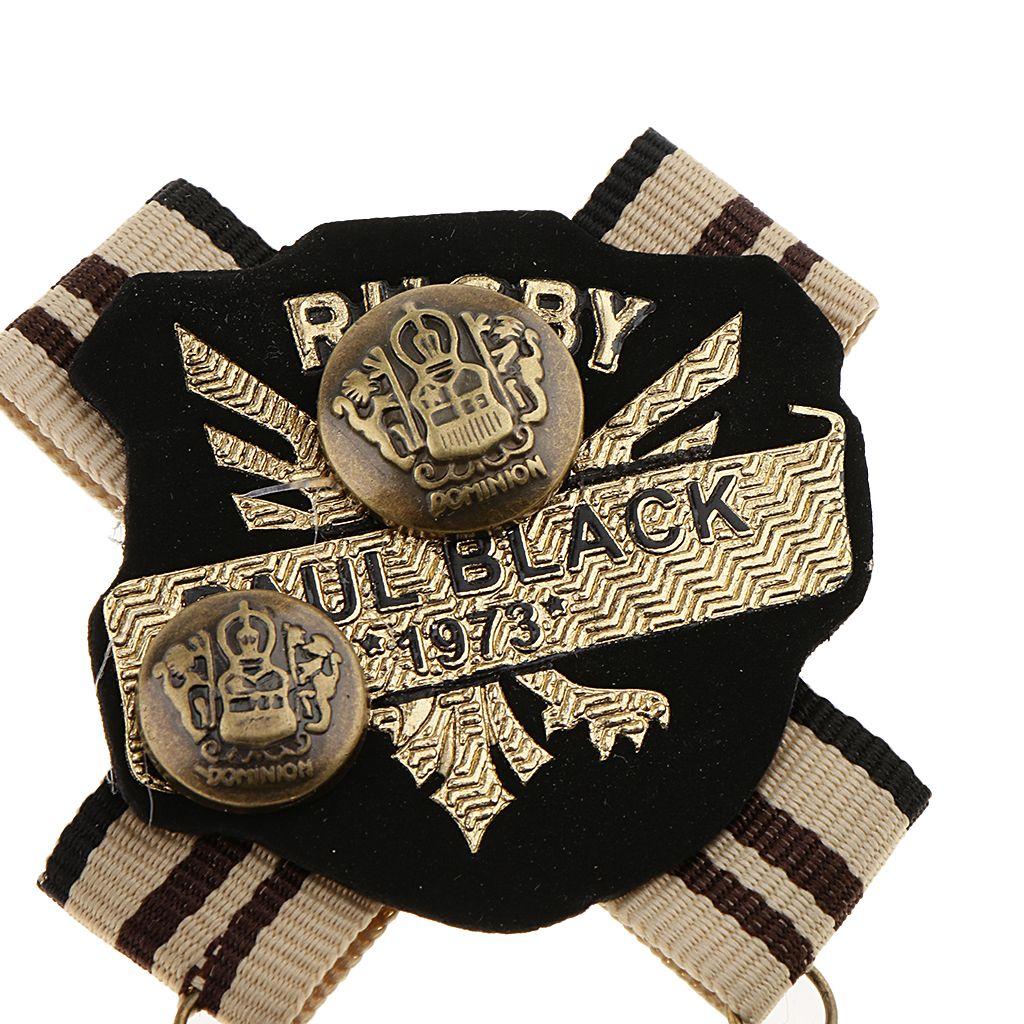 Rétro style britannique Tissu Corsage Insigne Broche Vintage College Accessoires