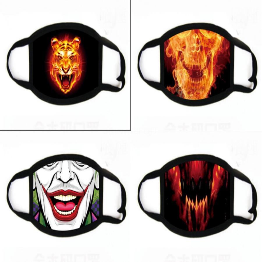 Trendy -Ird Desen Unisex Baskı Maskeler Fasion Kişilik Carm Erkekler Kadınlar Partisi Anquet Cosplay Çift Den Dikmeler # 477 Maske
