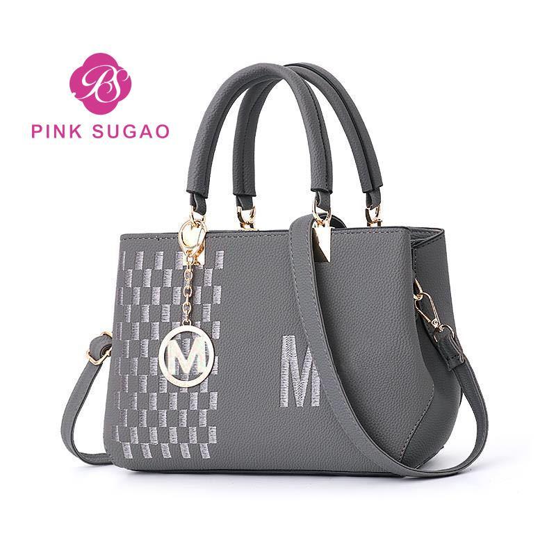 Rosa Sugao Designer-Handtaschen-Einkaufstasche diagonales PU-Leder hochwertige Umhängetasche Druck Kletter 2019 neue Art Luxus-Designer-Frauen