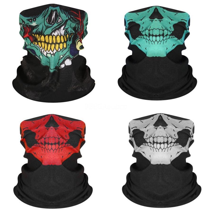 Sihirli Hip Hop Yüz Kaju Çiçek Üçgen Moda Kafatası Eşarp Bandana Sokak Kaykay Tasarımı Maske Boyun Kafatası Eşarp Bisiklet S # 131 2020 RtuHL