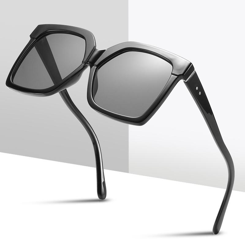 Marca 2020 Frame Fashion Green UV400 Para Mujeres Hombres Leopardo Gafas de gran tamaño Rectángulo Retro Rectángulo Sol Gafas de sol Tendencia Gwcic