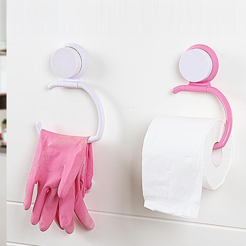 Creative-Sauger-Halter ABS Organisation Toilette Wohnzimmer Rollenpapier Tissue Toilette Handtuch Rack Cabinet Zubehör für das Badezimmer Tür