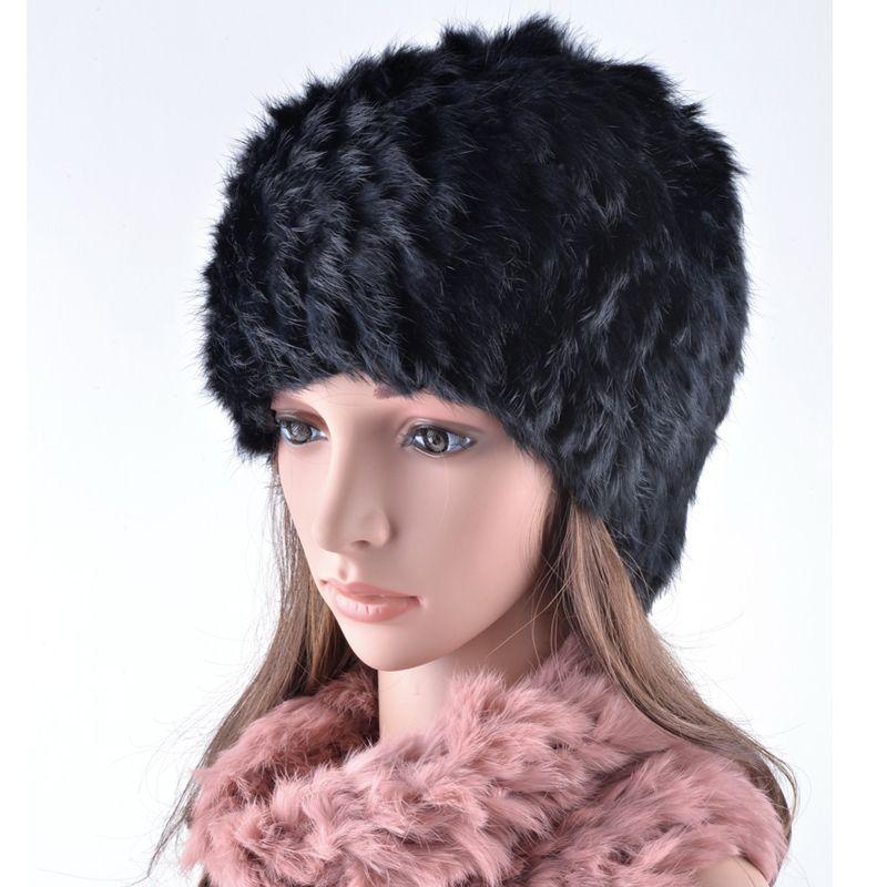 chapeaux d'hiver de haute qualité pour les femmes réelles filles de laine chapeau de fourrure BONNETS foulards chapeau mignons occasionnels chapeaux deux utilisations