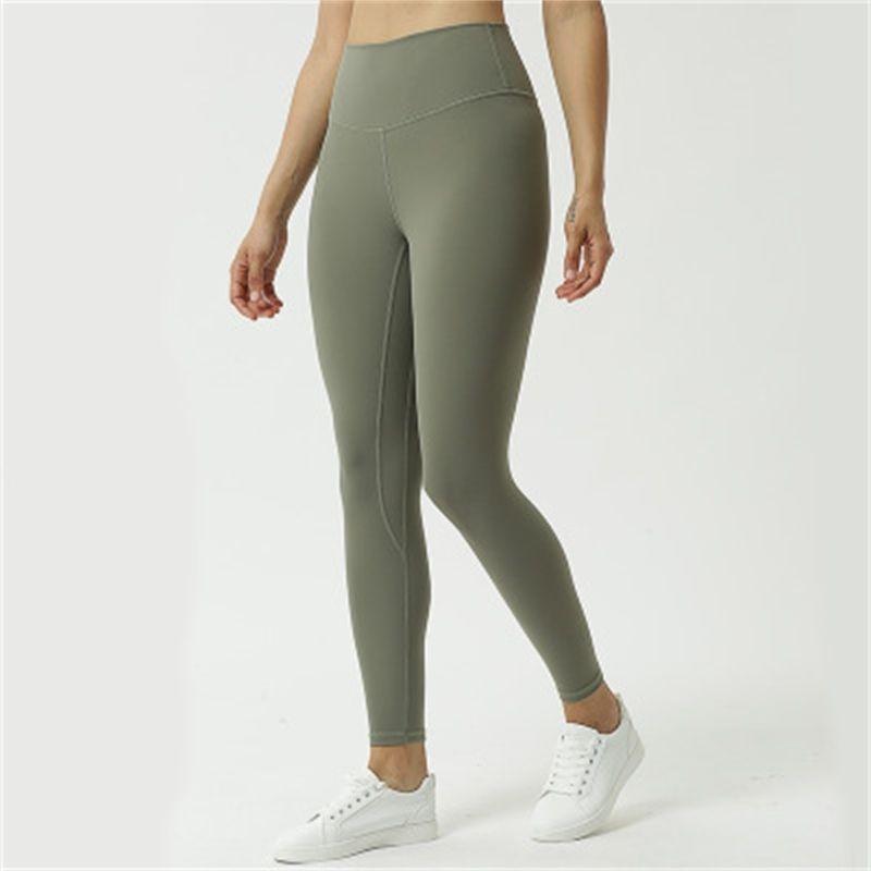 Mujeres Energía Alta Cintura Elástica Buttery-Soft Sports Girl Align Alinear Ejecución Yoga Pantalones Pantalones Gimnasia Leggings Y200904