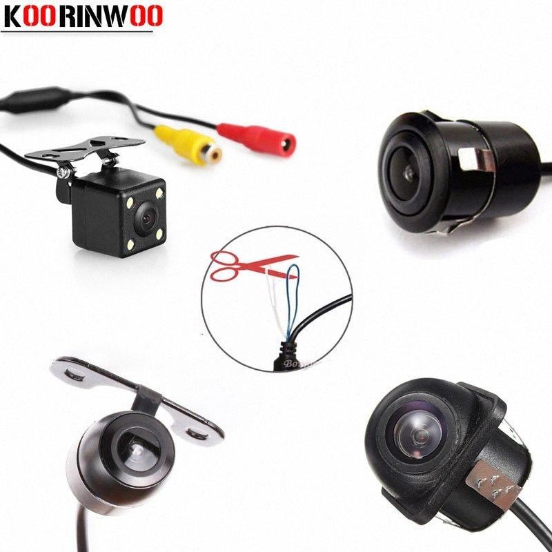 Koorinwoo Multifuntion العالمي HD الجبهة السيارات سيارة كاميرا للرؤية الخلفية للمساعدة الكاميرا وقوف عكس النسخ الاحتياطي كاميرا كاشف MV7m #