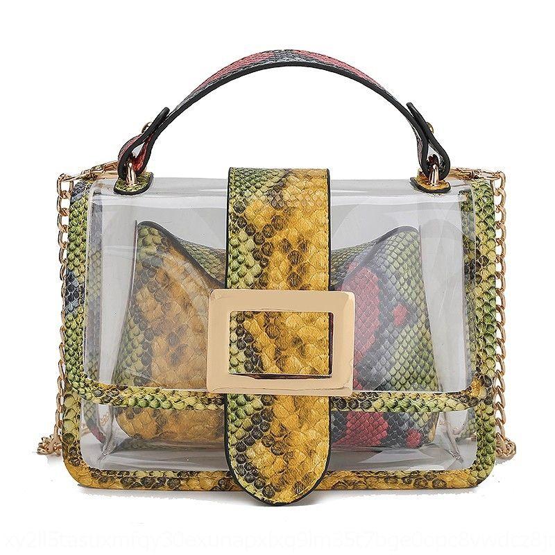 Kadınların U71YE için 2020 yeni çantası küçük kare Serpantin şeffaf omuz haberci çantası modaya uygun küçük kare çanta