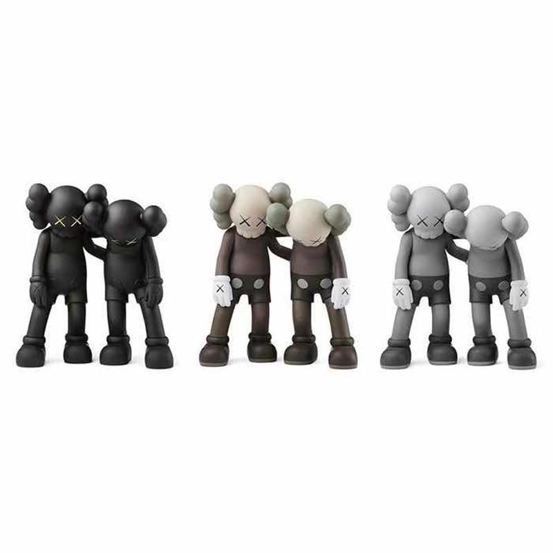 Hot 28CM 1.4kg Originalfake KAWS Companion The Along the way style for Original Box KAWS Action Figure model decorations toys gift