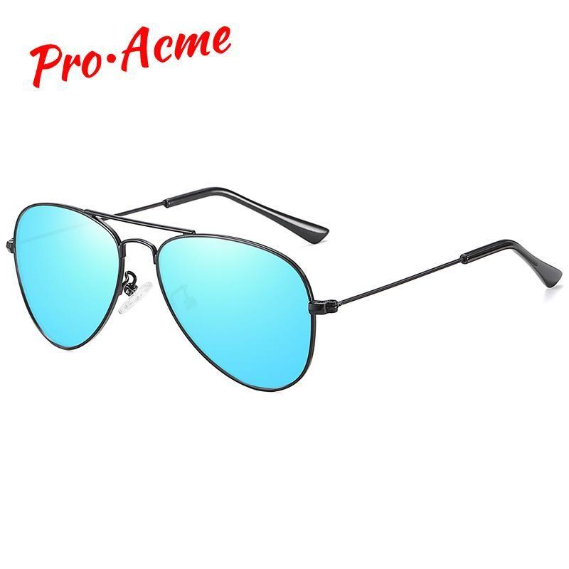 Pro Acme polarizados Bebês Crianças Sunglasses Espelho Lente piloto retro Crianças Meninos e Meninas de óculos de sol UV400 Idade 3-12 PC1585