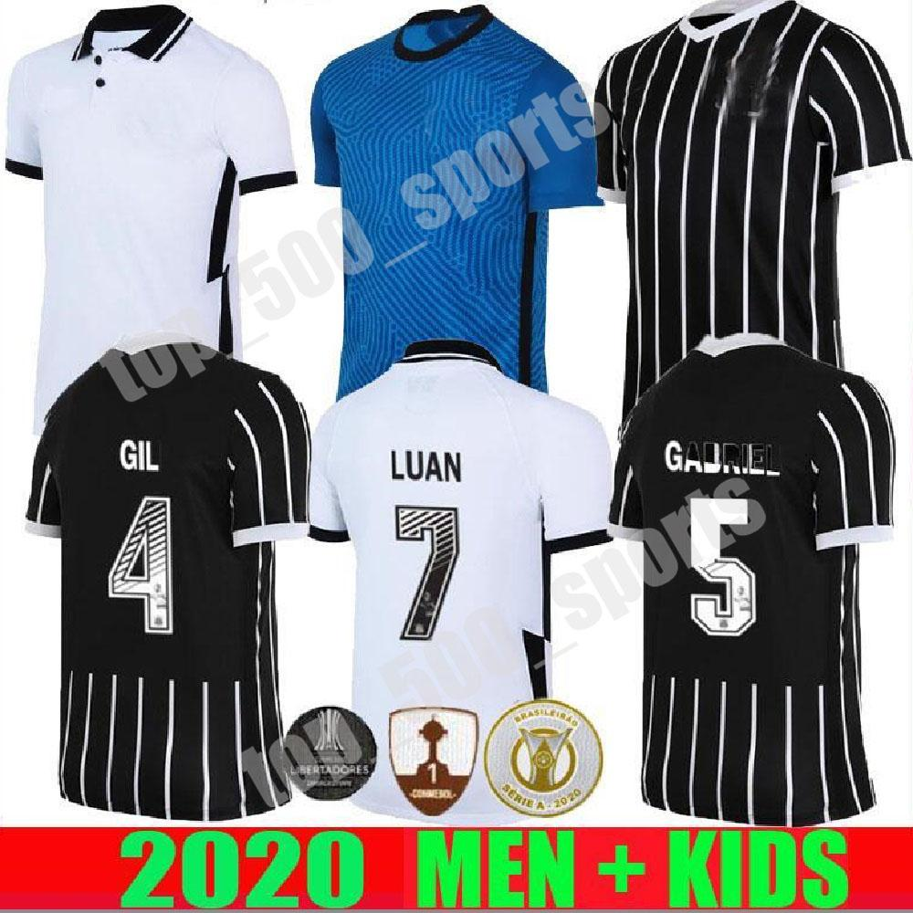 Corinthians soccer jerseys 2020 2021 Corinthian camisetas goalkeeper GIL RONALDO LUAN FAGNER PEDRINHO 20 21 NETO men kids kit FOOTBALL SHIRT