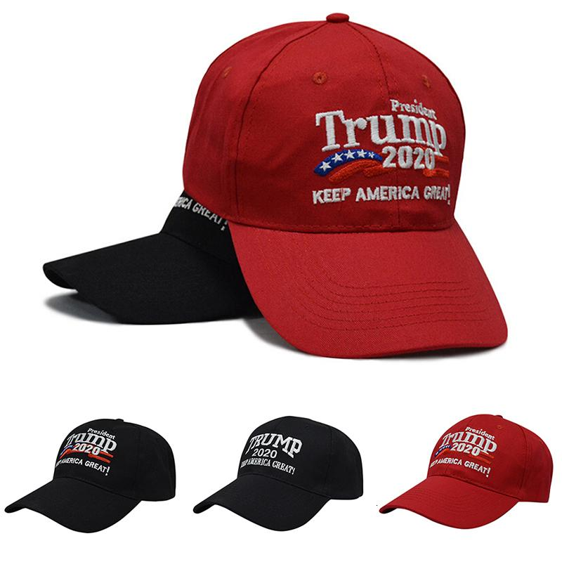 Мужской Регулируемый Республиканские Красные Черные Перевыборы Keep America Great Вышивание 2020 Нового Cap Хлопок Бейсбол Hat