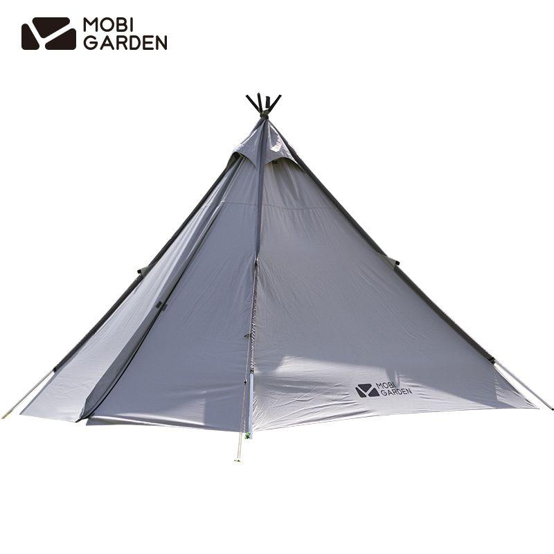 Mobigarden Pyramid Tent Villa Tower Sunscreen UV40+ PU5000 W/R Family Outdoor Rain Proof Waterproof Camping NX20561003