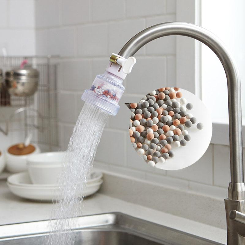 Cuisine Pulvérisateurs douche réglable avec filtre actif minéral Filtre à eau carbone Accueil Ménage Cuisine Mini robinet Pulvérisateur
