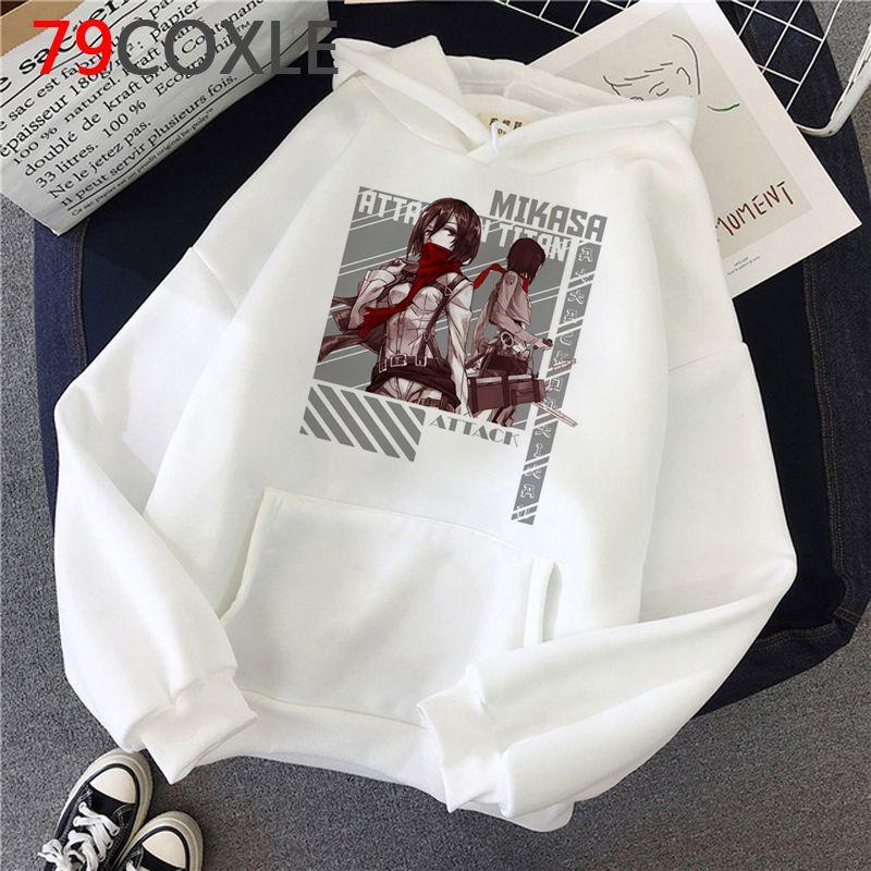 Attack on Titan Funny Anime Fashion Levi Eren Graphic Sweatshirt Warm Casual hoodies men graphic Ulzzang printed men sweatshirts Korea