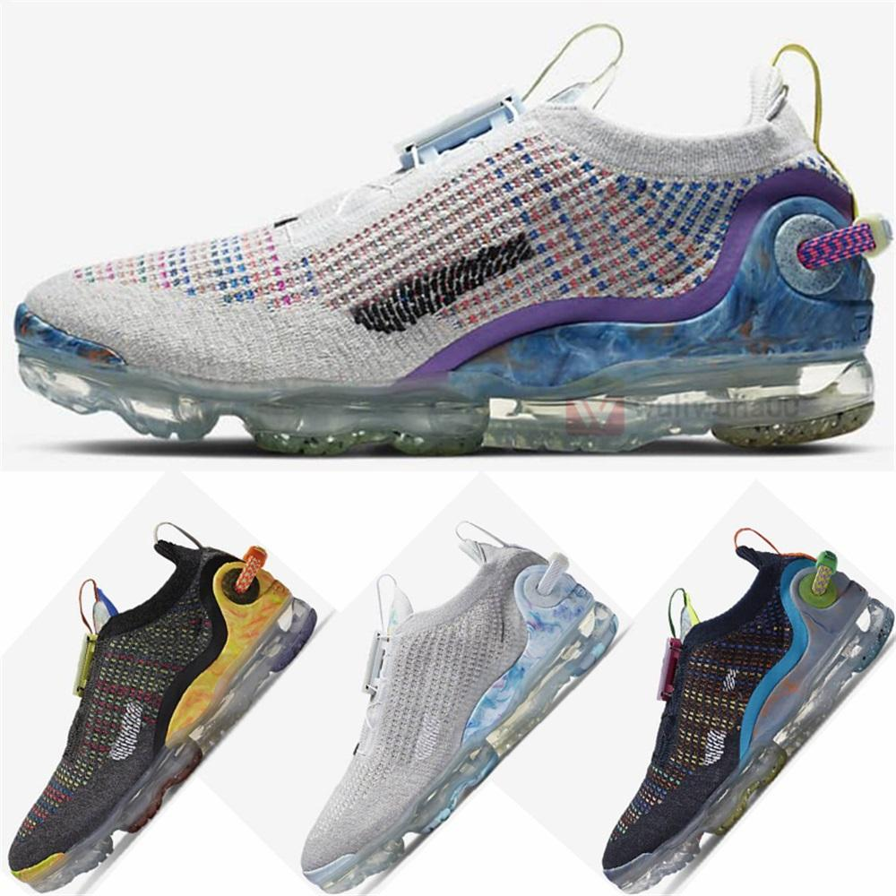 Nuove uscite Vapourmax 2020 FK Fly 2020 Running Shoes Maglierie Facilità Tie Pure Platinum Maxx Mens Trainers donne Luxe Sport Sneakers 2021