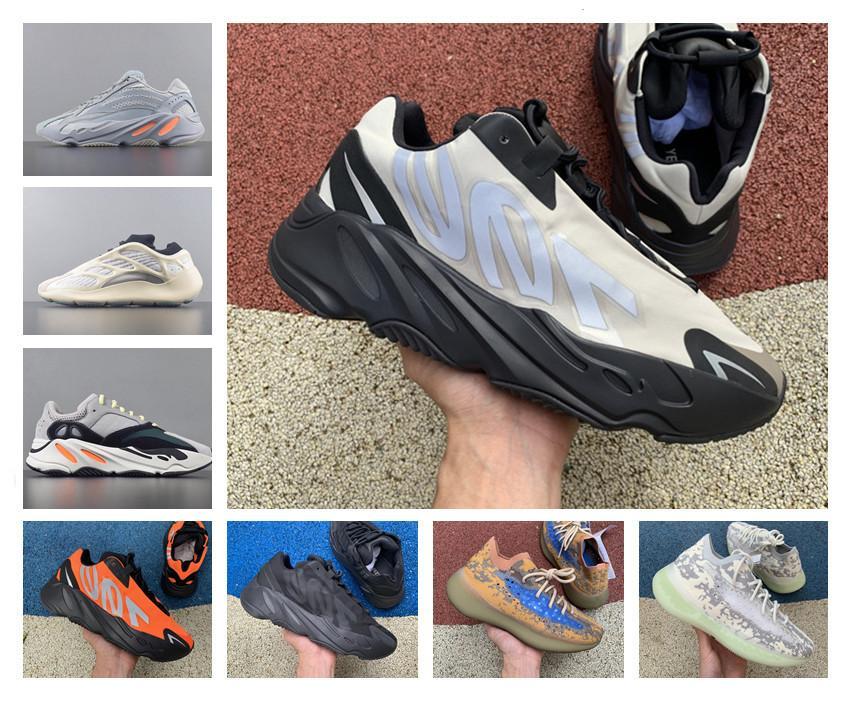 700 MNVN Koşu Erkek Kadın Ayakkabı Ucuz Vanta 700 V3 Alvah Azael Atalet Kanye West siyah beyaz Mıknatıs V2 Mist yabancı Runner Sneakers