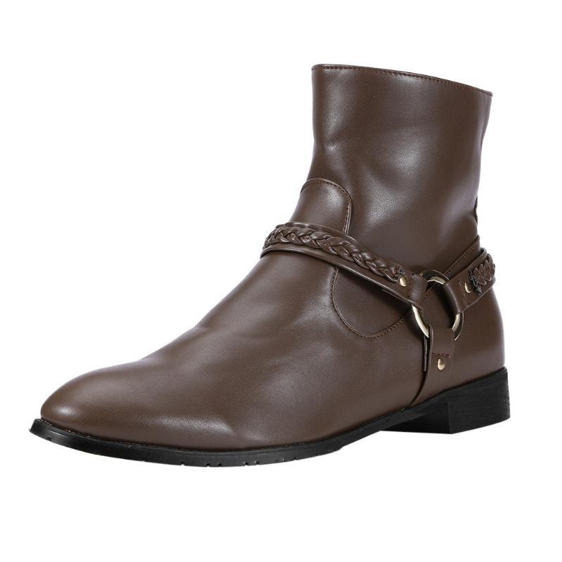 stivali SAGACE paio uomini 2020 Large Size britannico stile fibbia scarpe casual da uomo scarpe stivali tacco medio brevi Breve calzature
