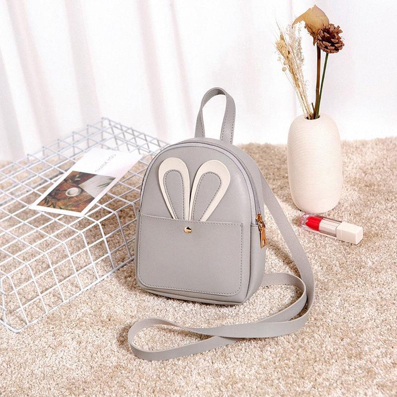 Atacado New Shoulder Bag Autumn Mulheres New Pu couro macio Bag Trendy Coreano Moda Personalidade Versátil Mini Backpack Pérola X4uS #