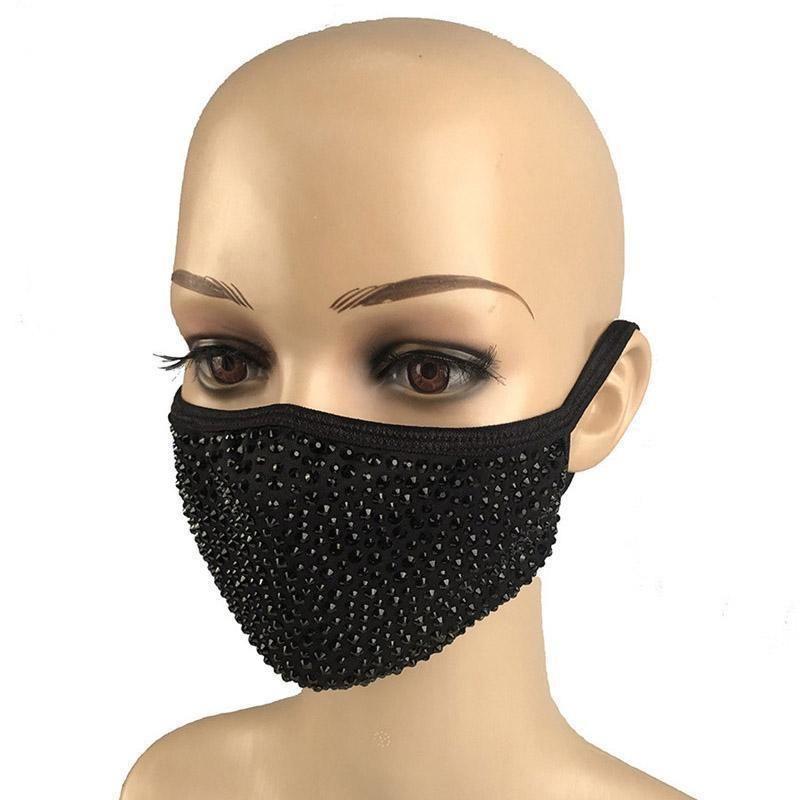 Elmas toz geçirmez Moda Koruyucu Bling PM2.5 Ağız Maskesi Yıkanabilir Yeniden kullanılabilir Yr3l Maske