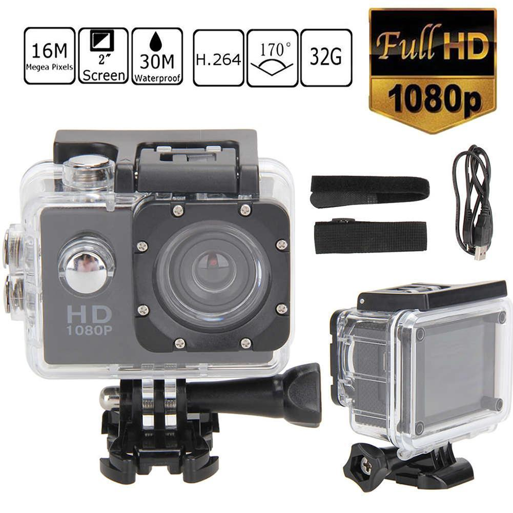Full Set Action Camera Full HD 30m Wifi 2.0 170d Screen 1080p Underwater Waterproof Extreme Pro Sport Camera