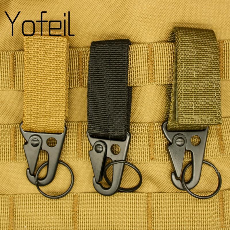 Mousquetons haute résistance en nylon Crochet clé Molle sangle Boucle système de suspension Boucle de ceinture Hanging Camping Randonnée Accessoires