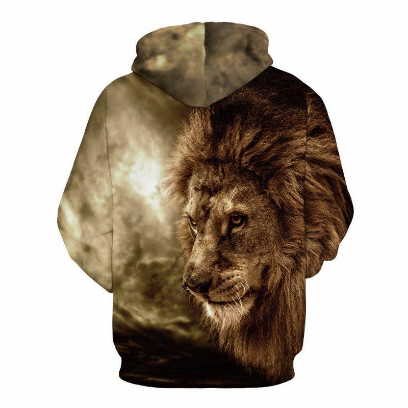 Hoodies Personalidade Men 3D Moletons Moda Casual HipHop Hoodie da camisola Coats solto Vibes sempre Traksuit pulôver com capuz